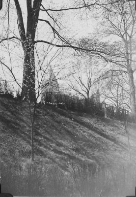 The Tech tower in spring (March 1933, donated by Burt Schwarz '36)