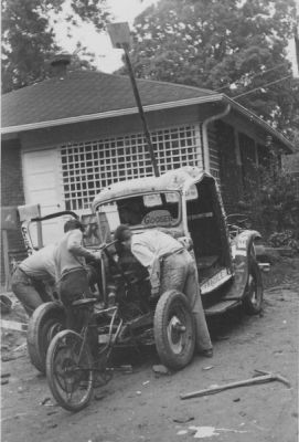 The Phi Ep entry into the 1949 Wreck Parade (October 1949, donated by Ernest Scheller '52)