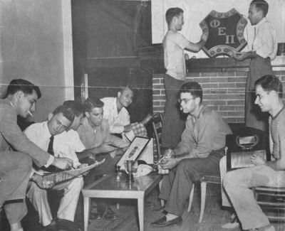 The Phi Ep scene at Tech, from the cover of The Southern Israelite, Vol. 24, No. 35 (8-26-1949, donated by Ernest Scheller '52)