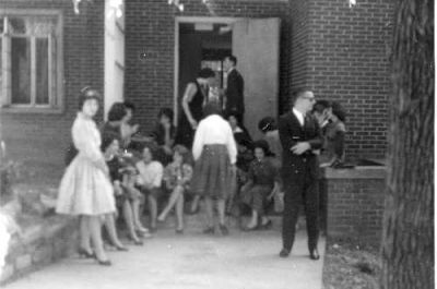 Hanging out on the front porch (Fall 1961)