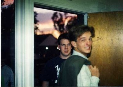 New Brother Sunday 1991-Brian Miller '93 and Denis Saussus '95 (Fall 1991)